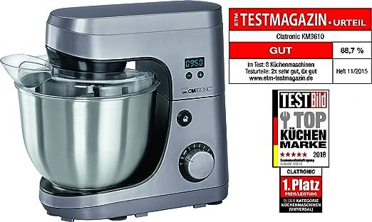 1000 Watt W CLATRONIC KM 3709 Rührschüssel-Kapazität: 5 Liter Küchenmaschine