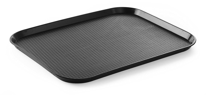 HENDI Bandejas para comida rápida (grande) - Negro - 350x450x(H)20 mm