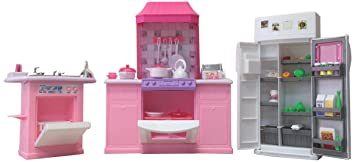 Barbie Size Dollhouse Furniture   Kitchen Set