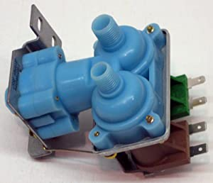 (KAS) Double Coil Icemaker Water Fill Valve for Whirlpool Kenmore Refrigerator Icemaker 4318046 WV8046 2188542