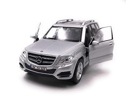 Mercedes Benz maqueta de coche con matrícula de deseos GLK SUV plata escala 1:34-39