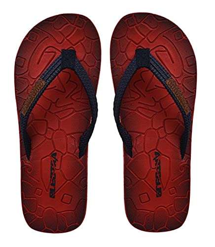 5b00311890bb0c Electra Boy s and Girl s Red and Navy PU Thong Style Flip Flops -5 ...