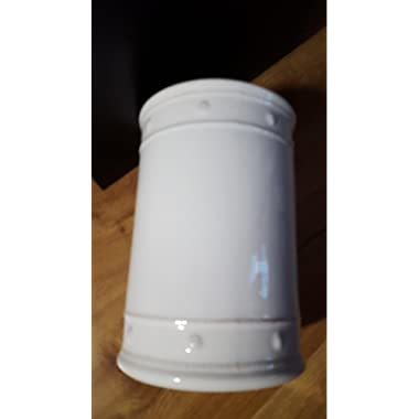 Berry & Thread Whitewash 13  Canister with Wooden Lid by Juliska