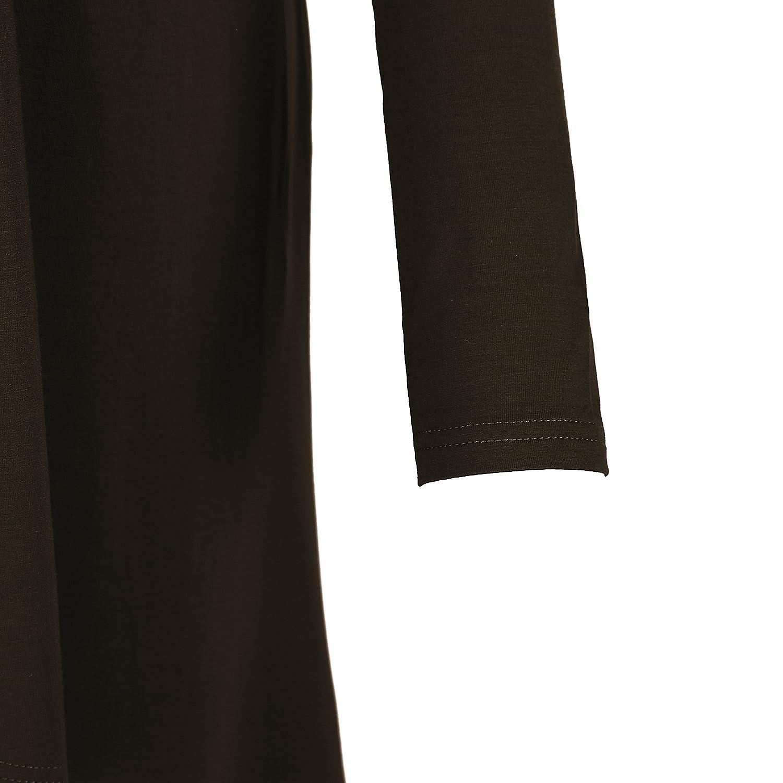Urban CoCo Womens Solid Color Trendy Long Length Basic Cardigan Bingo E-Commerce