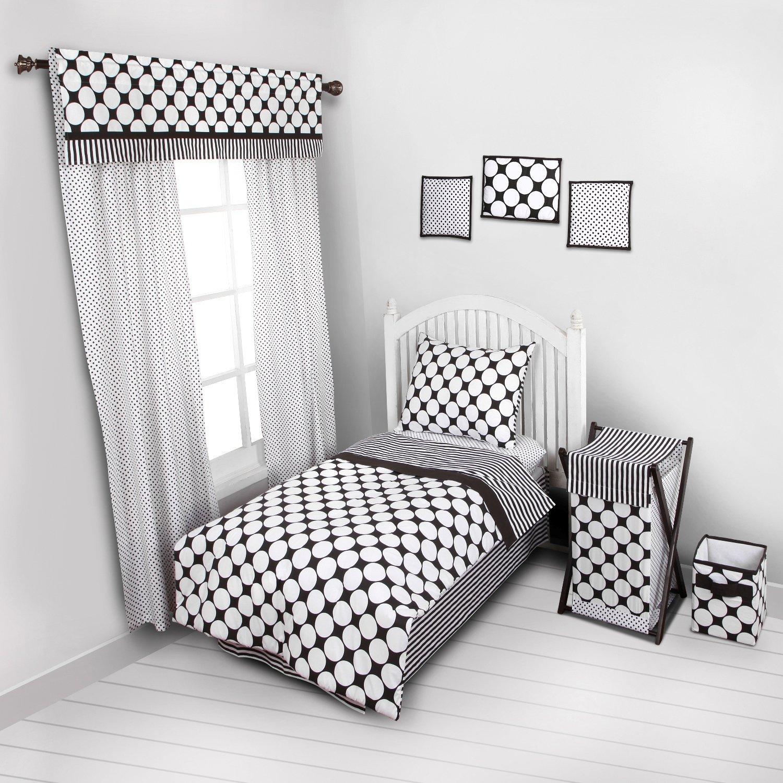 Amazoncom Bacati Dotspin Stripes Blackwhite 4 Pc Toddler