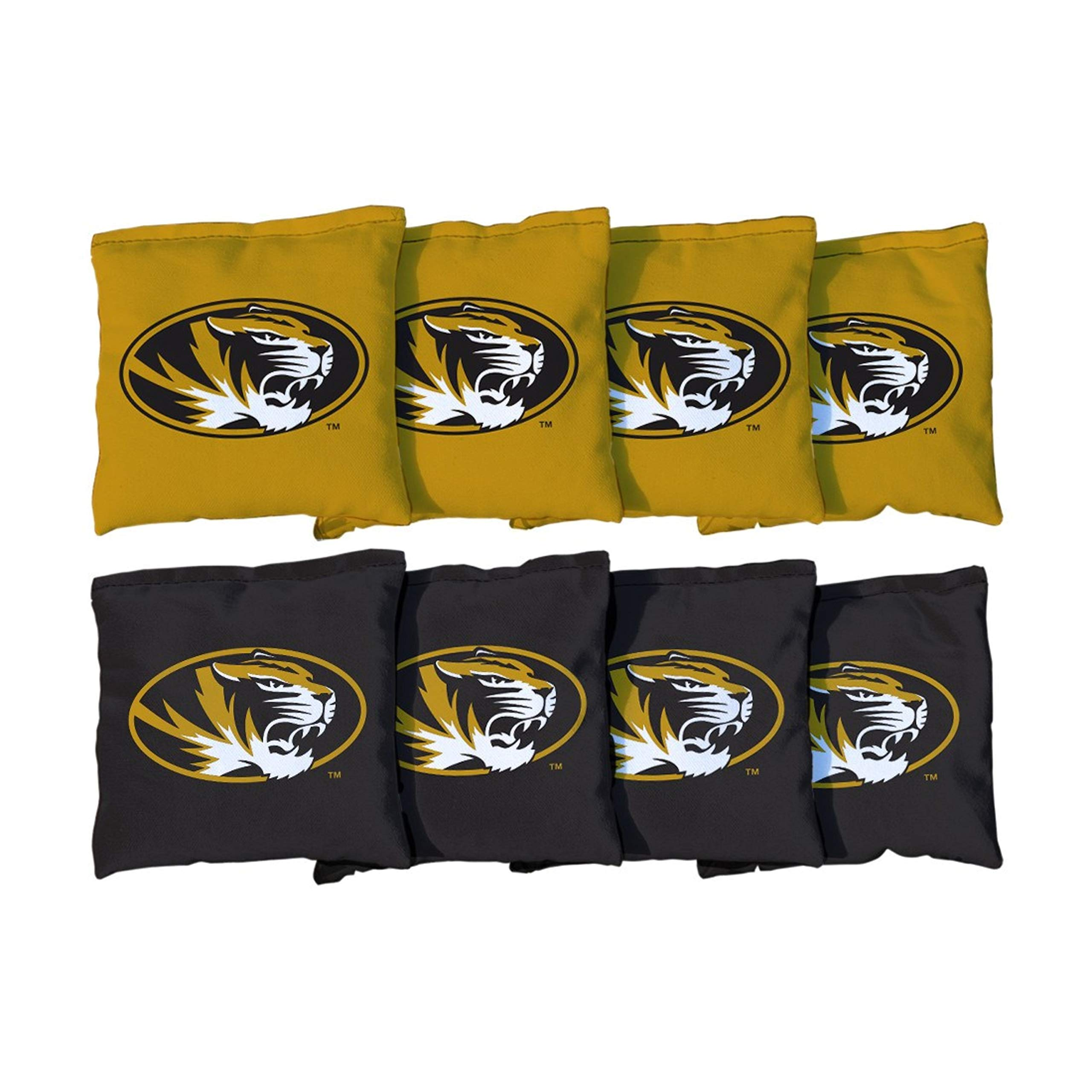 Victory Tailgate NCAA Regulation All Weather Cornhole Game Bag Set - 8 Bags Included - Missouri Mizzou Tigers by Victory Tailgate