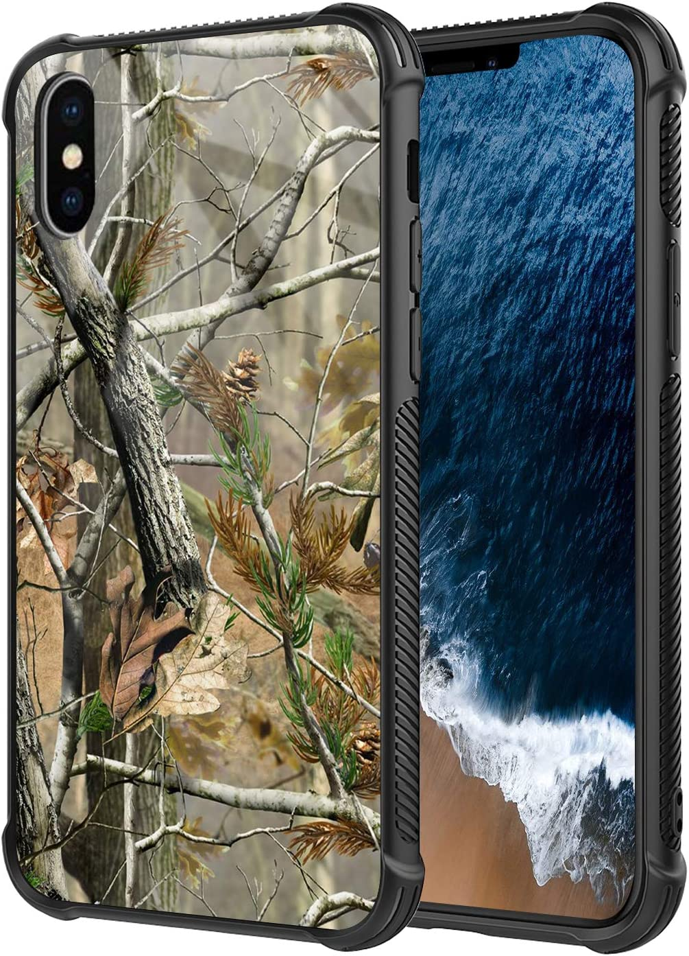 DAHAOGUO iPhone Xs MAX Case,Camo Design for Boy Mens Heavy Duty Shockproof Protection+Rubber Hybrid Protective Case for iPhone Xs MAX
