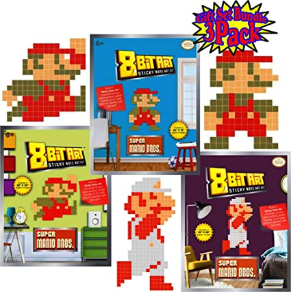 Amazoncom 8 Bit Art Sticky Note Art Kit Nintendo Super