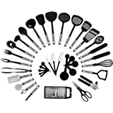 NEXGADGET Stainless Steel and Nylon Kitchen Utensils Set, 38 Pieces