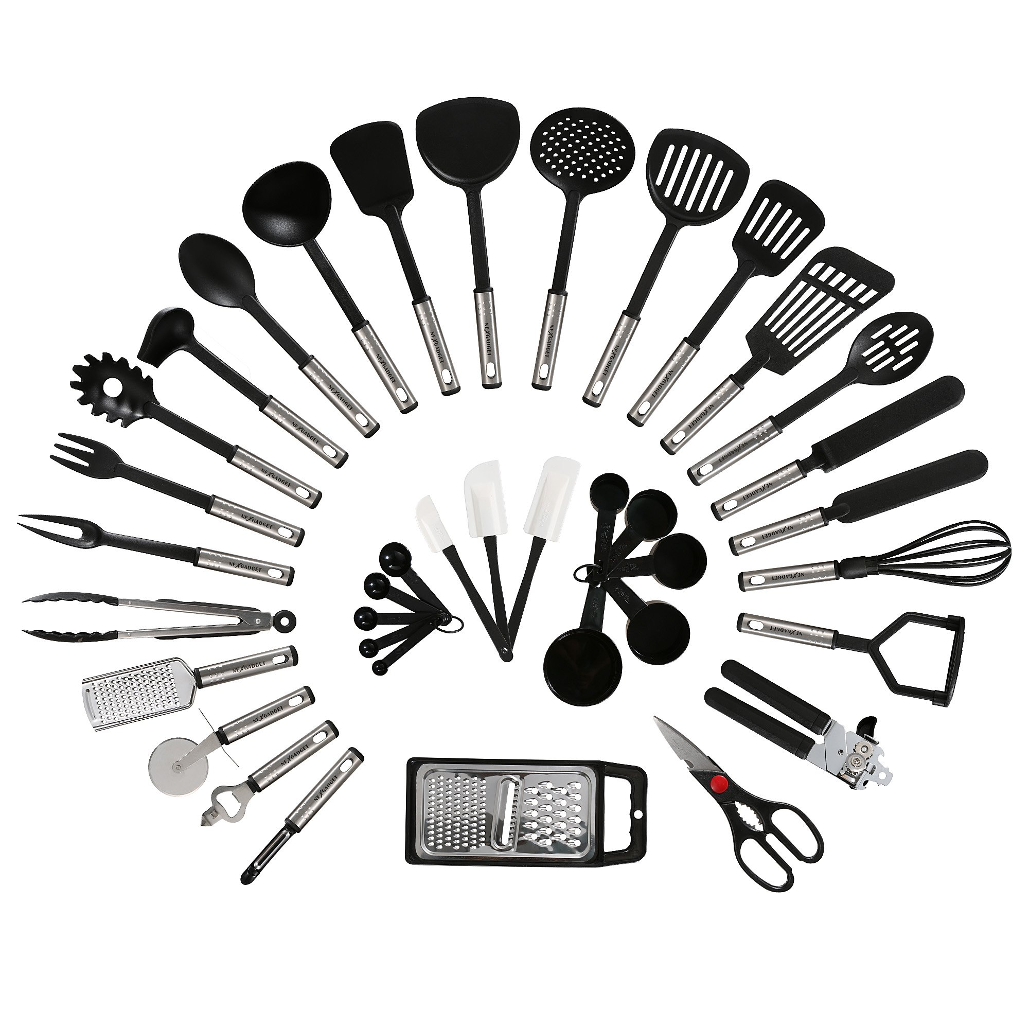 Kitchen Starter Set Ikea: NEXGADGET 38-Piece Premium Cooking Utensils Stainless