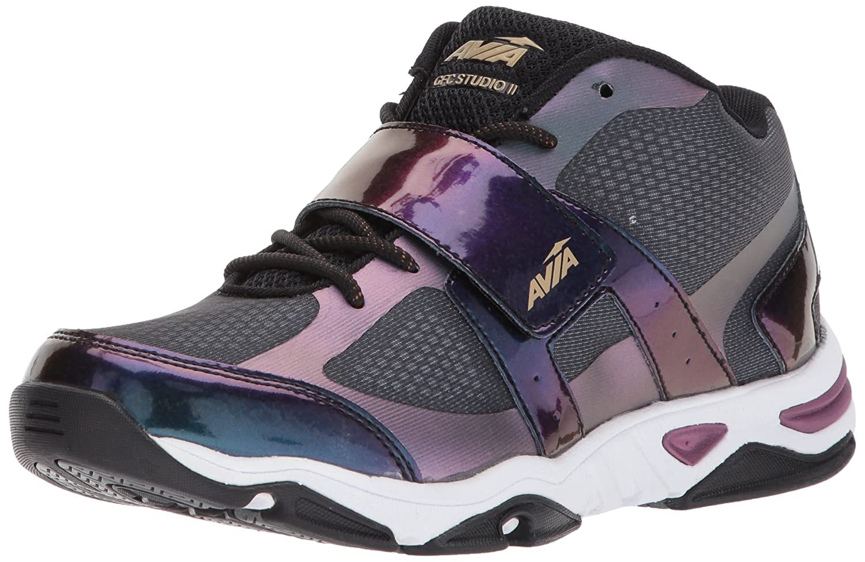 Avia Women's Gfc Studio II Sneaker B06XC8NK6N 11 B(M) US|Black/Iron Grey/Plumberry
