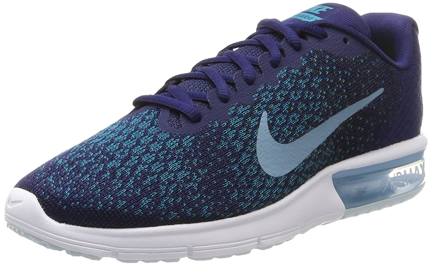 NIKE Men's Air Max Sequent 2 Running Shoe B01M7YGFRQ 10.5 D(M) US|Binary Blue/Cerulean/Black/Blustery