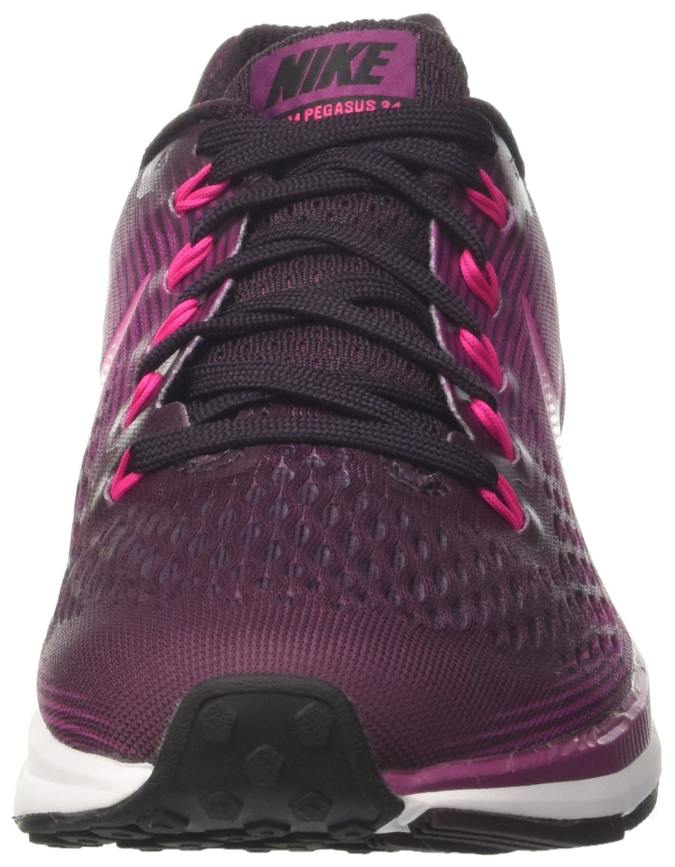 NIKE Women's Air Zoom Pegasus 34 Port Wine/Deadly Pink Running Shoe 7 Women US by NIKE (Image #4)