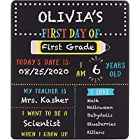 Kate & Milo First and Last Day of School Reversible Chalkboard, Reusable Photo Sharing Prop with Included Chalk