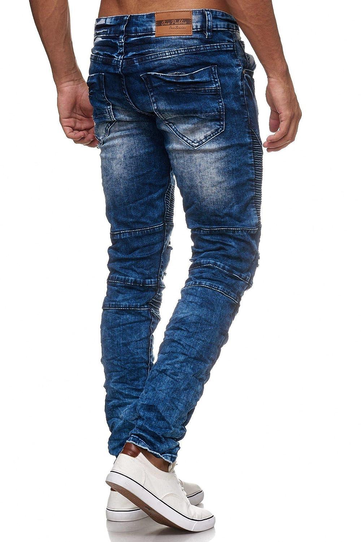 Megastyl Biker-Jeans-Hose Herren Stretch-Denim Slim-Fit Stepp-Design B076T5FPZN Jeanshosen Jeanshosen Jeanshosen Echt b34124