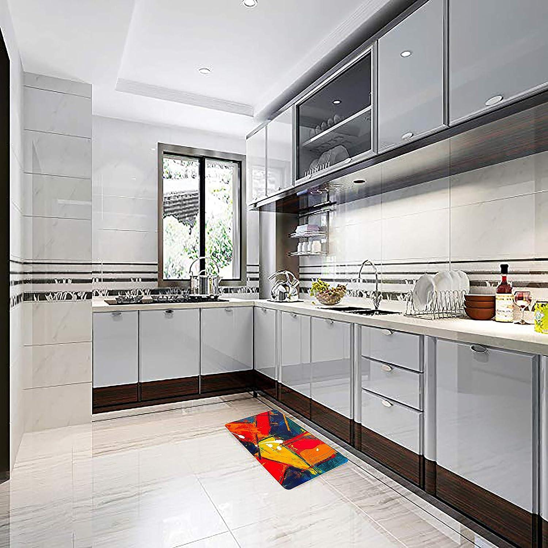 SHDU Real Madrid Blue and White Football Flannel Doormat Non-Slip Floor Carpet Bathroom Bedroom Mats Home Decorative 18 X 30