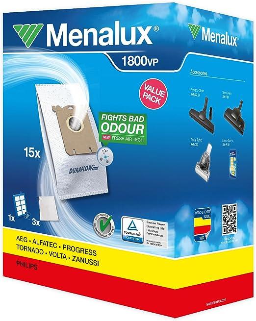 Menalux 1800 VP - Juego de filtros para aspiradoras Electrolux ...