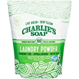 Charlie's Soap Laundry Powder (100 Loads, 1 Pack) Fragrance Free Hypoallergenic Deep Cleaning Laundry Powder – Biodegradable