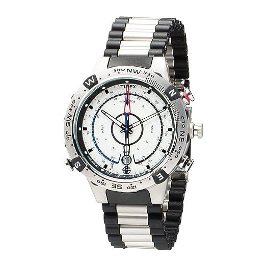 Timex T45781SU Expédition - Reloj analógico analógico para hombre con correa de acero inoxidable, color plateado: Amazon.es: Relojes
