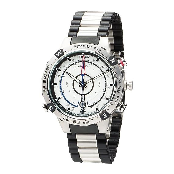 Timex T45781SU Expédition - Reloj analógico analógico para hombre con correa de acero inoxidable, color