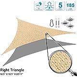 Amazon Com Coolaroo 16 Foot By 5 Inch Triangle Shade