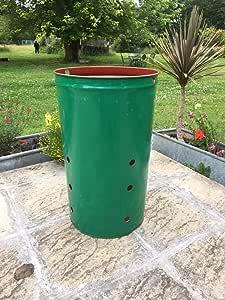 Incinerador de jardín para hojas de papel de basura 120 L: Amazon.es: Bricolaje y herramientas