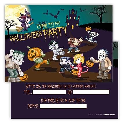 Halloween Kindergeburtstag.Einladungskarten Fur Kindergeburtstag Oder Halloween Party