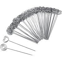 Willbond 60 Piezas Alambre de Metal Clip