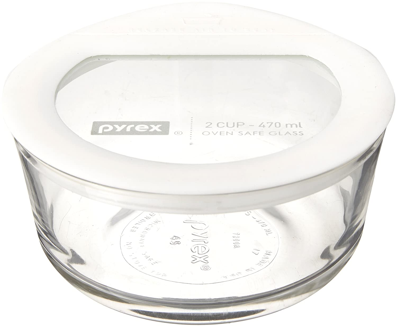 Pyrex 6 Piece No-Leak Food Storage Set, White