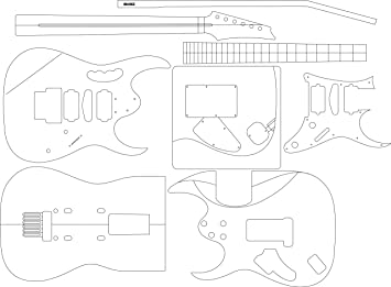 Amazon.com: Electric Guitar Layout Template - Jem: Musical Instruments