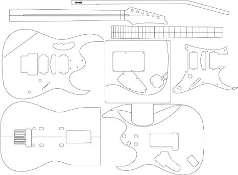 Amazon Com Electric Guitar Layout Template