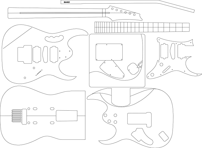 Electric Guitar Layout Template