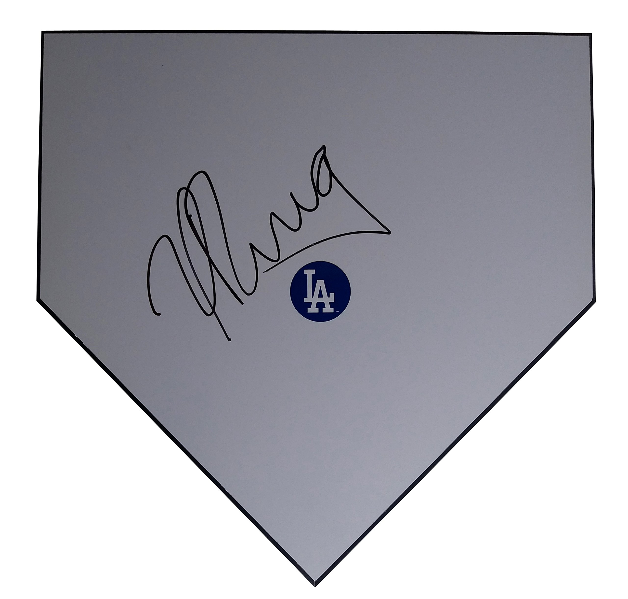 Los Angeles Dodgers Yasiel Puig Autographed Hand Signed LA Dodgers Baseball Home Plate Base with Proof Photo of Signing and COA