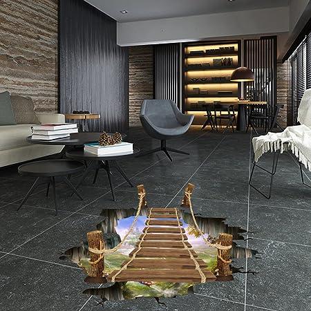 Cxqwan Kreativ Baumelnd 3d Zugbrücke Schlafzimmer Wohnzimmer Boden
