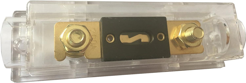 KOLACEN ANL Fusible de Plaqu/é Or 250 Amp Porte-fusible ANL paquet de 1