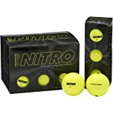 Nitro NMD12YBXC Maximum Distance Golf Ball, 12-Pack, Yellow