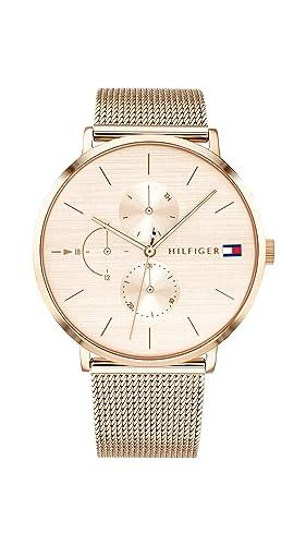 Tommy Hilfiger Reloj Multiesfera para Mujer de Cuarzo con Correa en Oro Rosa 1781944: Amazon.es: Relojes