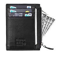flintronic Portefeuille En Cuir, Etui RFID Blocage Porte Carte de Crédit, Porte-monnaie