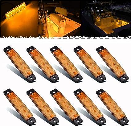 10pcs Marine Boat LED Deck Light 12 Volts Courtesy Utility Lights