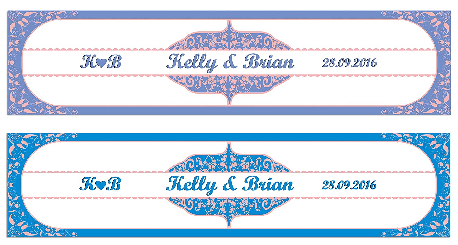 Personalized Wedding Water Bottle Labels WaterFarbe Effect Effect Effect Self Adhesive Sticker 8  x 2  Inches - 50 Labels B013UVCDW8     | Bequeme Berührung