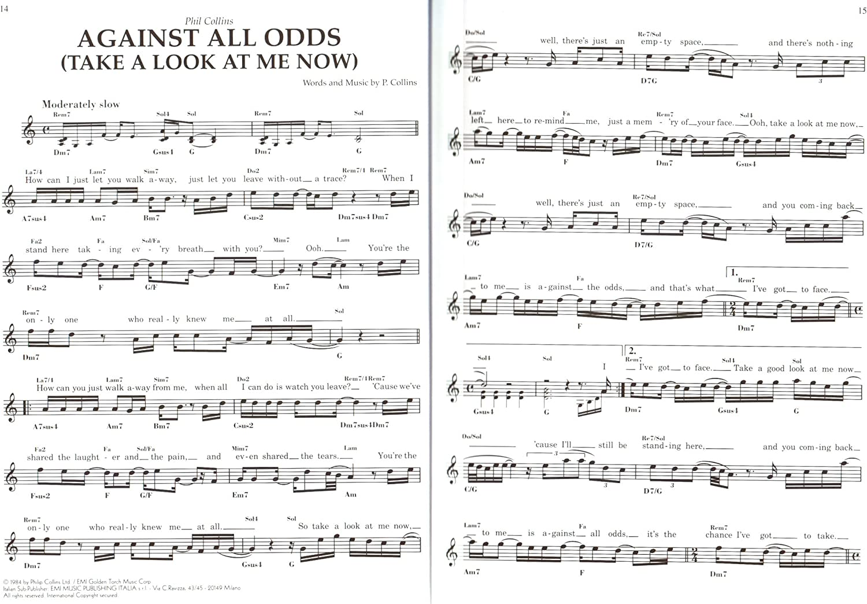 100 Hits 1980 – 1990 para c Melodía Instrumento: Guitarra, Piano ...