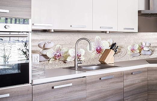 DIMEX LINE Küchenrückwand Folie selbstklebend Zen Garten  Klebefolie -  Dekofolie - Spritzschutz für Küche  Premium QUALITÄT - Made in EU  10 cm  x