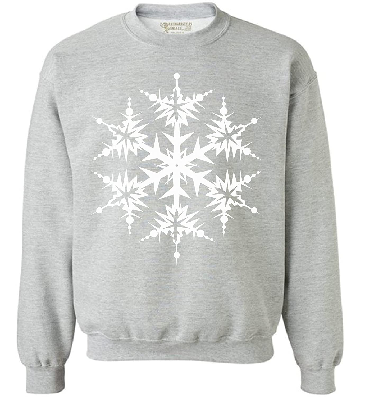 Awkward Styles Unisex Ugly Christmas Snowflake Sweatshirt Snowflake Christmas Sweater