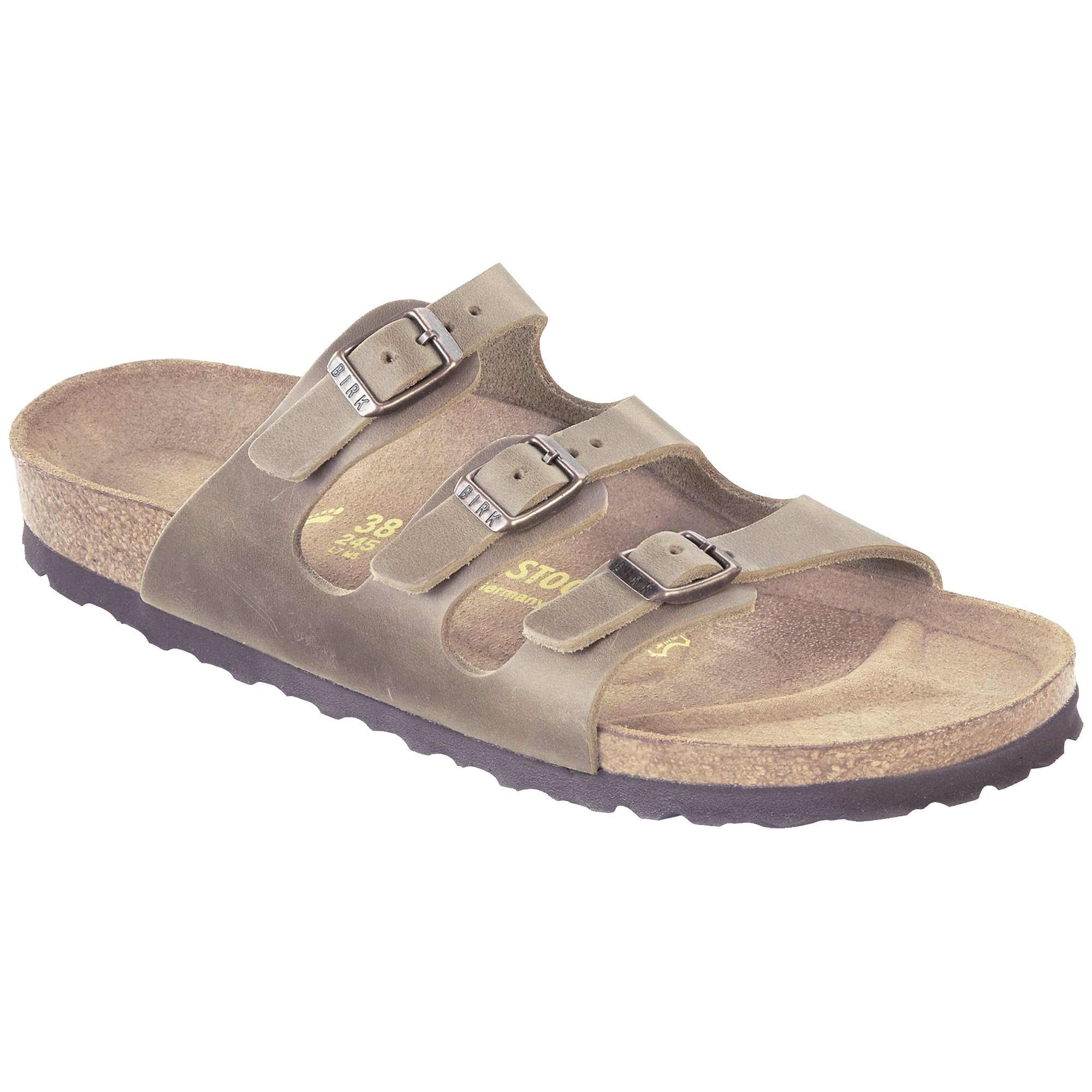 Birkenstock Women's Florida Soft Footbed Tobacco Oiled Leather Sandal 38 (US Women's 7-7.5)