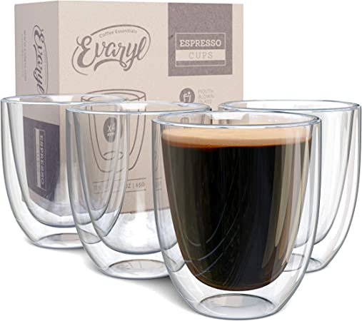 Stoiva Double Wall Insulated Espresso Glass Cups </div>