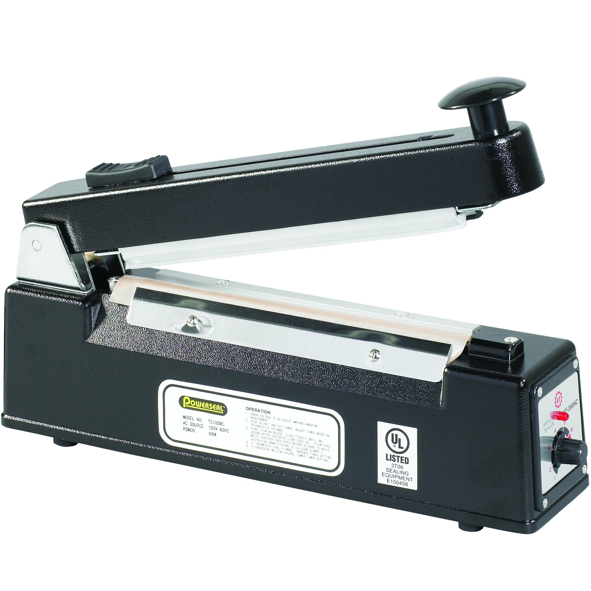 BOX USA BSPBC8 Impulse Hand Sealers with Cutters, 8'' x 1/16''