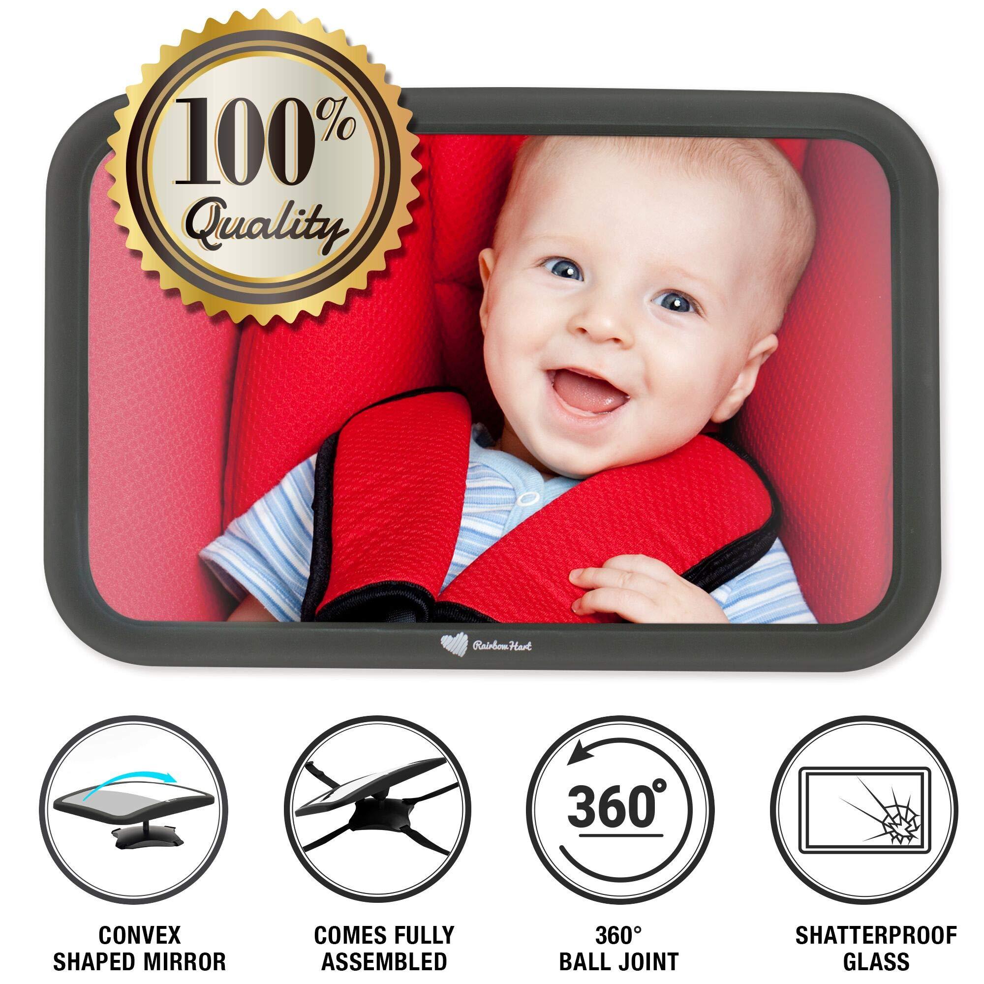 Rainbow Hart Baby Car Mirror for Back Seat - Mirror for Car Seat Rear Facing by Rainbow Hart