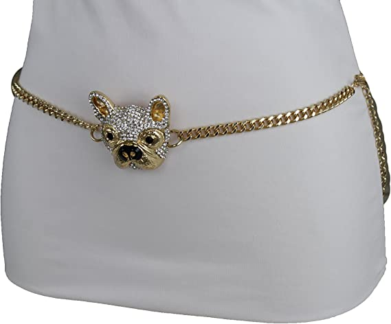 Women Dressy Fashion Belt Hip High Waist Stretch Waistband Bling Party M L XL