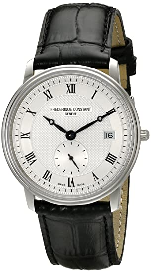 Frederique Constant FC245M4S6 - Reloj para Hombres, Correa de Plata Color Negro: Amazon.es: Relojes