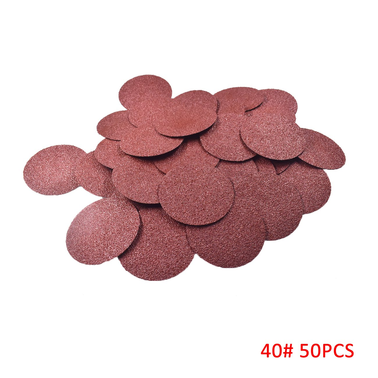 Supermotorparts 50 Pcs 3 Inch Roloc Discs Coarse 40 Grit R Type Sanding Abrasive Roll Lock